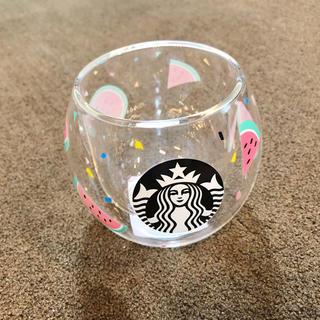 Starbucks Coffee - 【新品未使用】スターバックス ダブルウォールグラス スイカ 237ml