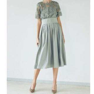 ラグナムーン(LagunaMoon)のT00561/LAGUNAMOON ADYオーバーレースギャザードレスs(ミディアムドレス)