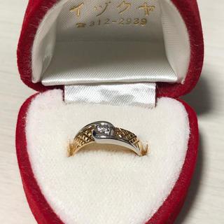 K18 プラチナ ダイヤモンド リング