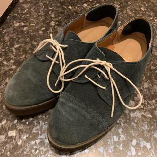 スウェードシューズ♡ストレートチップ♡レア(ローファー/革靴)