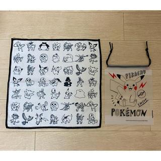 ポケモン -  新品 ポケモン×asoko キッチンタオルと半透明巾着袋 セット