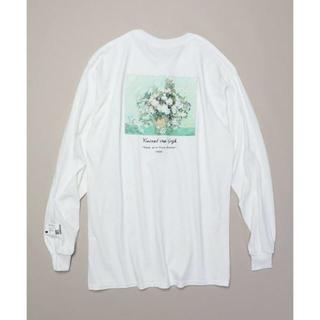 FREAK'S STORE - ゴッホ デザインロングTシャツ カットソー オフホワイト