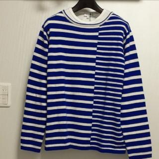 ビューティアンドユースユナイテッドアローズ(BEAUTY&YOUTH UNITED ARROWS)のM【新品】アローズ/ボーダー(青×白)ニット・セーター 切り返し 長袖Tシャツ(ニット/セーター)