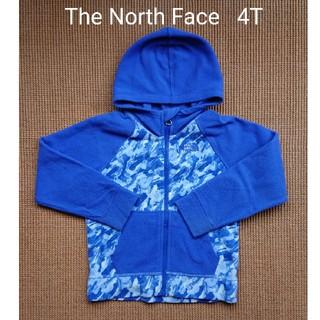 THE NORTH FACE - ノースフェイス  フリース パーカー 青 迷彩 4T 100 110
