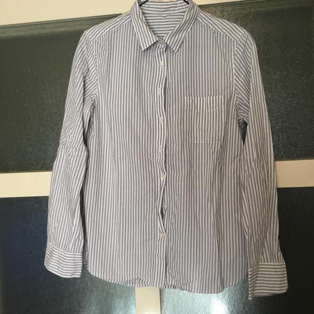 MUJI (無印良品)(ムジルシリョウヒン)の無印良品 ストライプシャツ レディースのトップス(シャツ/ブラウス(長袖/七分))の商品写真