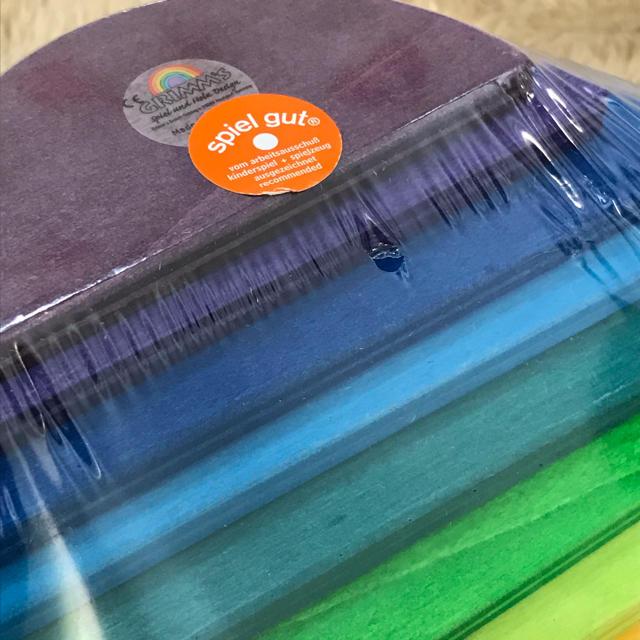 BorneLund(ボーネルンド)の《新品・未開封》グリムス社 半円 アーチレインボー キッズ/ベビー/マタニティのおもちゃ(積み木/ブロック)の商品写真