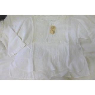 MUJI (無印良品) - 新品未使用タグ付き無印良品フレンチリネンの七分袖ブラウス