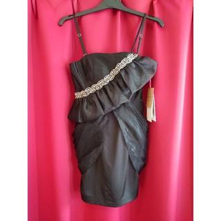 ジュエルズ(JEWELS)のJ16429 新品 S ミニドレス Jewels ブラック オーガンジー重ね(ミニドレス)