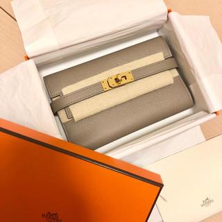Hermes - 都内エルメス購入♡ケリーウォレット ミディアム コンパクト 財布 レアカラー