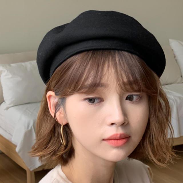 dholic(ディーホリック)のDHOLIC ディーホリック ベレー帽 黒 レディースの帽子(ハンチング/ベレー帽)の商品写真