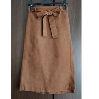 GU - GU スエードタッチウエストリボンタイトスカート
