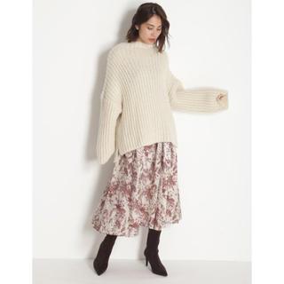 Mila Owen - ミラオーウェン 今季完売 ウエストゴムベルト付フレアスカート 新品タグ付き