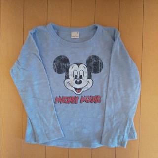 プティマイン(petit main)の美品☆プティマイン ミッキーマウス長袖Tシャツ 110(Tシャツ/カットソー)