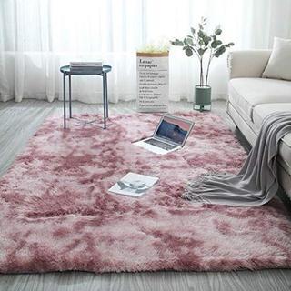 洗える 2畳 ラグマット カーペット 140*200  ピンク