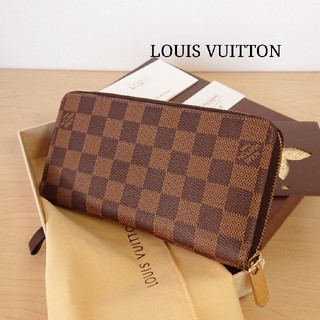LOUIS VUITTON - 美品 正規品ルイヴィトン ダミエ ジッピーウォレット 長財布