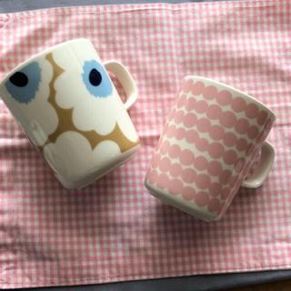 marimekko - マリメッコ  マグカップ2個セット ピンクセット