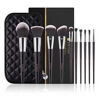 ブラックADUcare ドゥケア 化粧筆 最高級のタクロンを使用 超柔らかいメイ