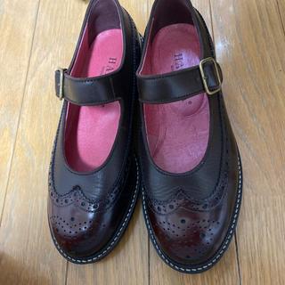 ハルタ(HARUTA)のハルタ HARUTA 太ベルトストラップシューズ (ダークブラウン)(ローファー/革靴)