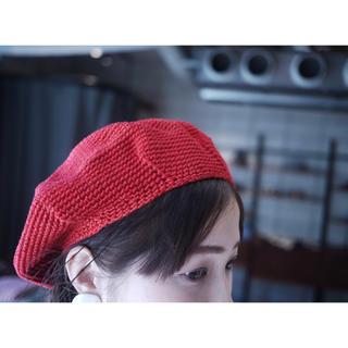 新品 レア色 フミカウチダ fumika uchida コットンベレー帽