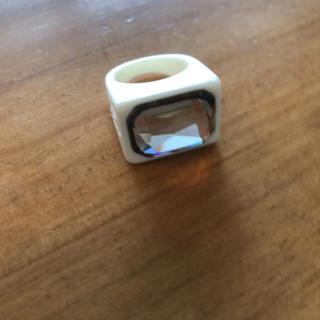 アリーアンドダイア(ALLY & DIA)のally&dia pinky ring ホワイト(リング(指輪))