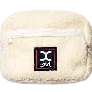 エックスガール(X-girl)のmini 2月号 ミニ 付録 X-girl ファスナーポケット付きもこもこポーチ(ポーチ)