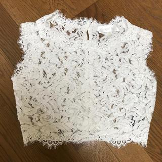 タダシショウジ(TADASHI SHOJI)のTADASHI SHOJI 花柄レースボレロ  XSサイズ(ウェディングドレス)