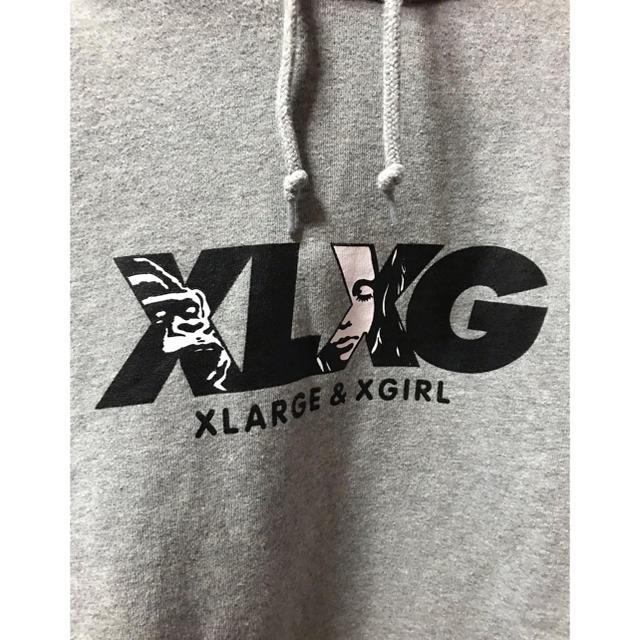 XLARGE(エクストララージ)の人気カラー!人気サイズ!X-LARGE×X-GIRL コラボ パーカー グレーL メンズのトップス(パーカー)の商品写真