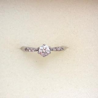 プラチナ ダイヤモンド リング サイズ7.5