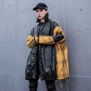 レザージャケット レディース秋冬 中綿 PU TG10214