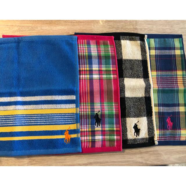 POLO RALPH LAUREN(ポロラルフローレン)の🧁ラルフローレンハンカチ4枚セット🧁 レディースのファッション小物(ハンカチ)の商品写真