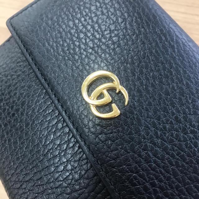 Gucci(グッチ)のGucci グッチ 二つ折り財布 レディースのファッション小物(財布)の商品写真