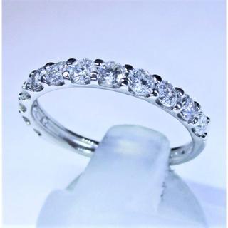 値下げ※天然ダイヤモンド0.70ctハーフエタニティリング(指輪)(リング(指輪))