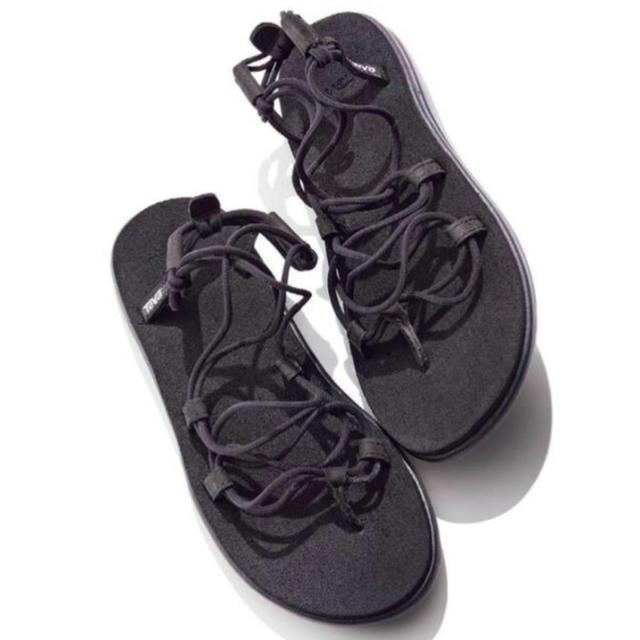 Teva(テバ)の【即購入可】Teva ボヤ インフィニティ 黒 23cm 新品タグ付き レディースの靴/シューズ(サンダル)の商品写真