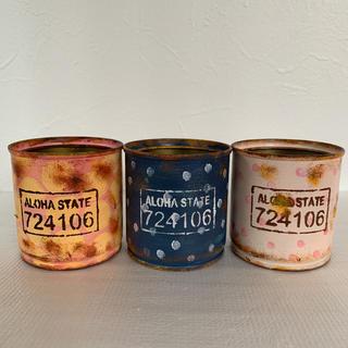 3個セット ハンドメイド  リメイク缶 ① 多肉植物の寄せ植え(プランター)