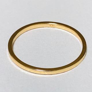 K18 シンプルデザインの指輪