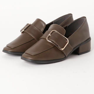 Lochie - スクエア ストラップ ローファー 革靴