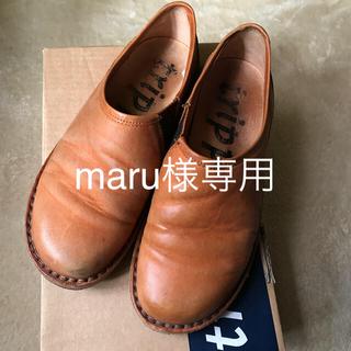 トリッペン(trippen)のtrippen Yen orange 37 限定カラーオレンジ(ローファー/革靴)