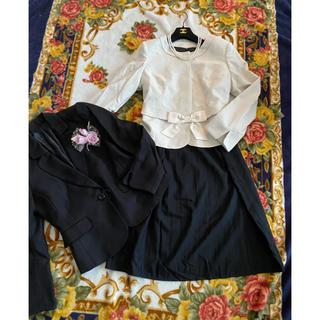 【新品】21号/セレモニースーツ5点卒業式入学式 大きいサイズ(スーツ)