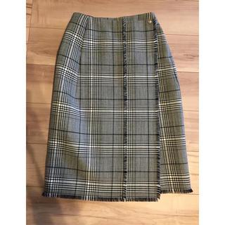 Drawer - ドゥロワー 17awチェック巻きスカート