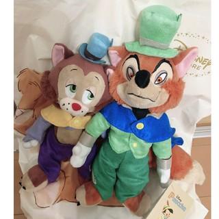 Disney - 正直ジョン&ギデオン ぬいぐるみ ピノキオ 80th ファウルフェロー