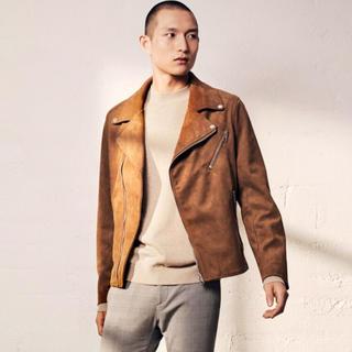 H&M - 新作&新品 H&M ダブルライダース スエード素材 Lサイズ