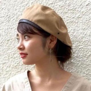 カスタネ(Kastane)のカスタネ チノパイピングベレー帽(ハンチング/ベレー帽)