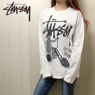 ステューシー(STUSSY)の0287 ステューシー ビッグロゴ ロンティー(Tシャツ/カットソー(七分/長袖))