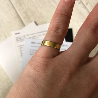 イーエム(e.m.)のe.m. ゴールドリング gold ring #6.5(リング(指輪))