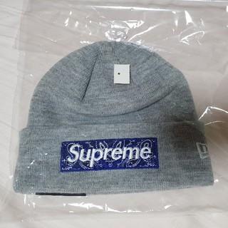Supreme - supreme bandana box logo beanie grey
