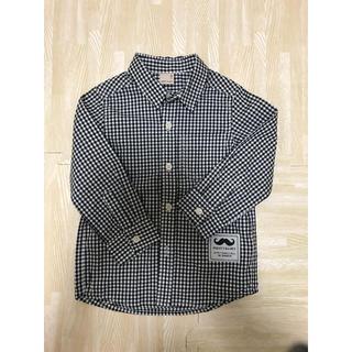 プティマイン(petit main)のプティマイン シャツサイズ100 新品未使用(Tシャツ/カットソー)