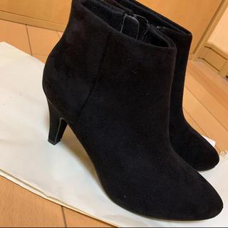黒ショートブーツ(ブーツ)
