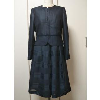 SOIR - 東京ソワール13号COCCOLUSSI紺フォーマル三点スーツ