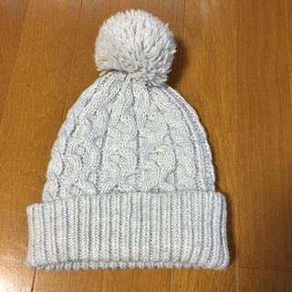 ギャップ(GAP)のGAP ニット帽 グレー ワンサイズ(ニット帽/ビーニー)
