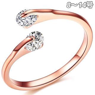 ★定価5980円★【SWAROVSKI】金属アレルギー対応 フリーサイズ 指輪
